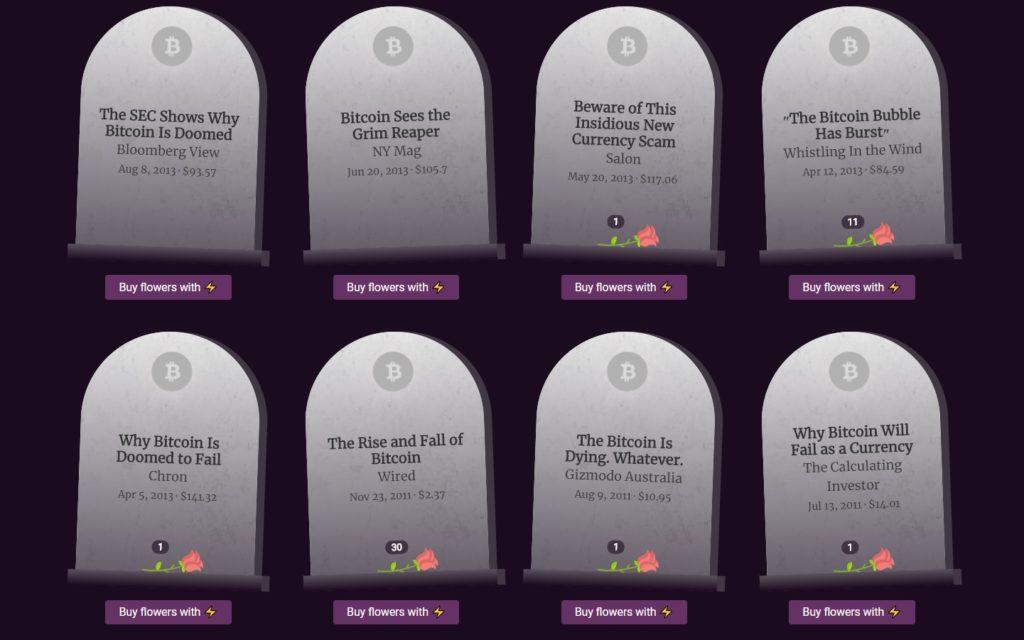 bitcoin obituaries prekyba btc su svertu
